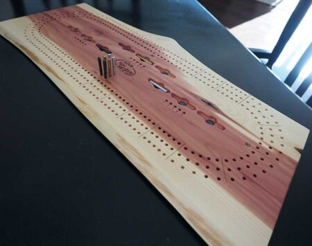Wood Cribbage Board Natural Edge Red Cedar Three Player Wood From the Hood