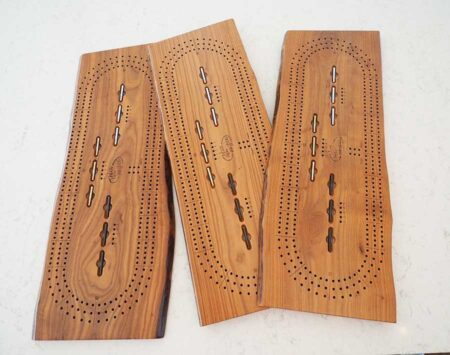 Cribbage Board 3 Player Roasted Ash Wood From the Hood