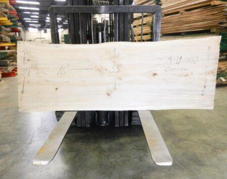 "Cottonwood Natural Edge Slab #2-21-19-04 (96"" x 34"" x 2"")"