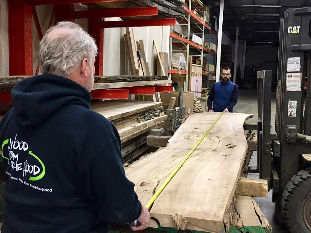 Natural Edge Wood Slabs Reclaimed Urban Wood From the Hood Ash