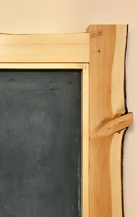 Natural Edge Chalk Board Wood From the Hood