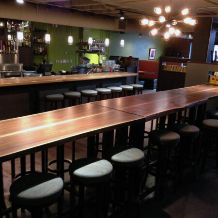 Urban Wood Communal Table | Custom Wood Furniture | Wood From The Hood | Minneapolis | Pizza Luce