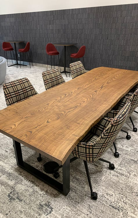 Reclaimed Wood Minneapolis Table Design Home Decor Lumber Slabs Wood From The Hood