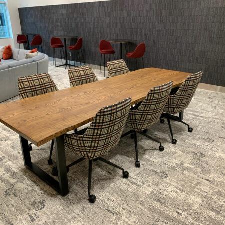 Atmosphere Urban Ash Lumber Meeting Table - Wood From The Hood