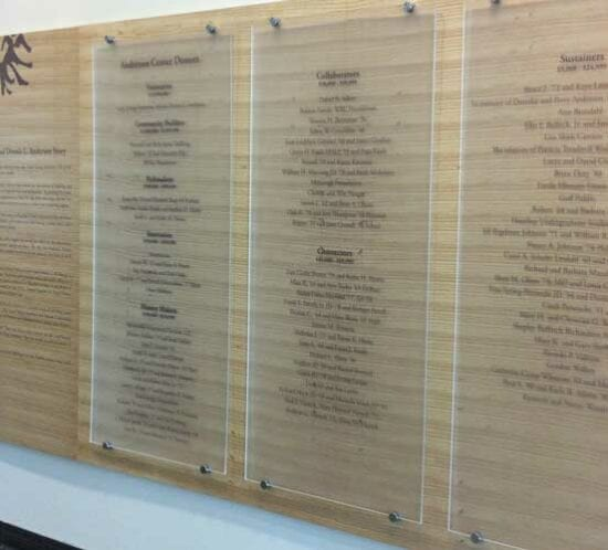 Commercial Interior Signage Display – Hamline University