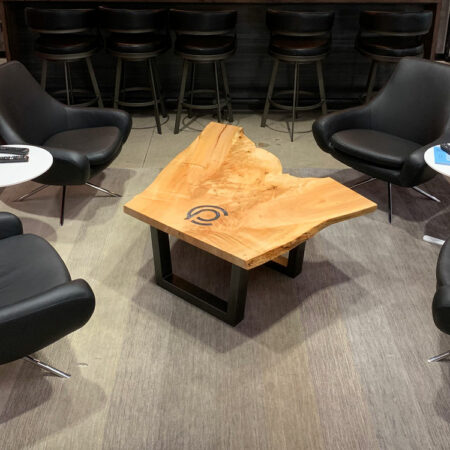 Silver Maple Coffee Table | Branded Wood | Wood Furniture | Wood From The Hood | Capital Partners