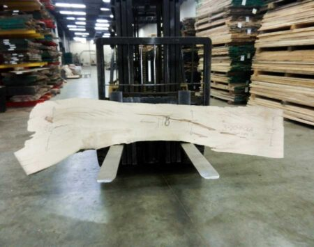 "Sugar Maple Natural Edge Slab #3-20-19-06 (118"" x 25"" x 1.75"")"