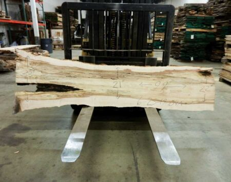 "Sugar Maple Natural Edge Slab #6-25-19-04 (99"" x 25"" x 2.25"")"