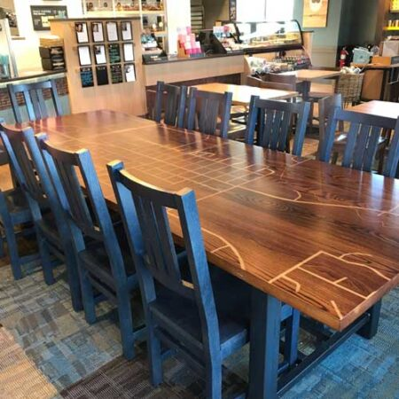 Custom Commercial Table | Branded Wood | Custom Wood Furniture | Furniture Maker | Wood From The Hood | Minneapolis