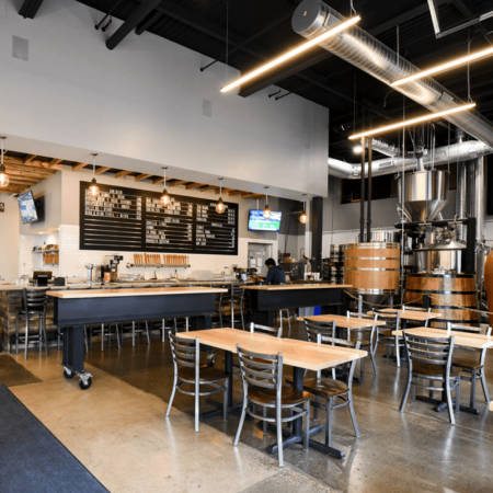 Wood Brewpub Tables | Wood From the Hood | ONE Fermentary Taproom | Minneapolis