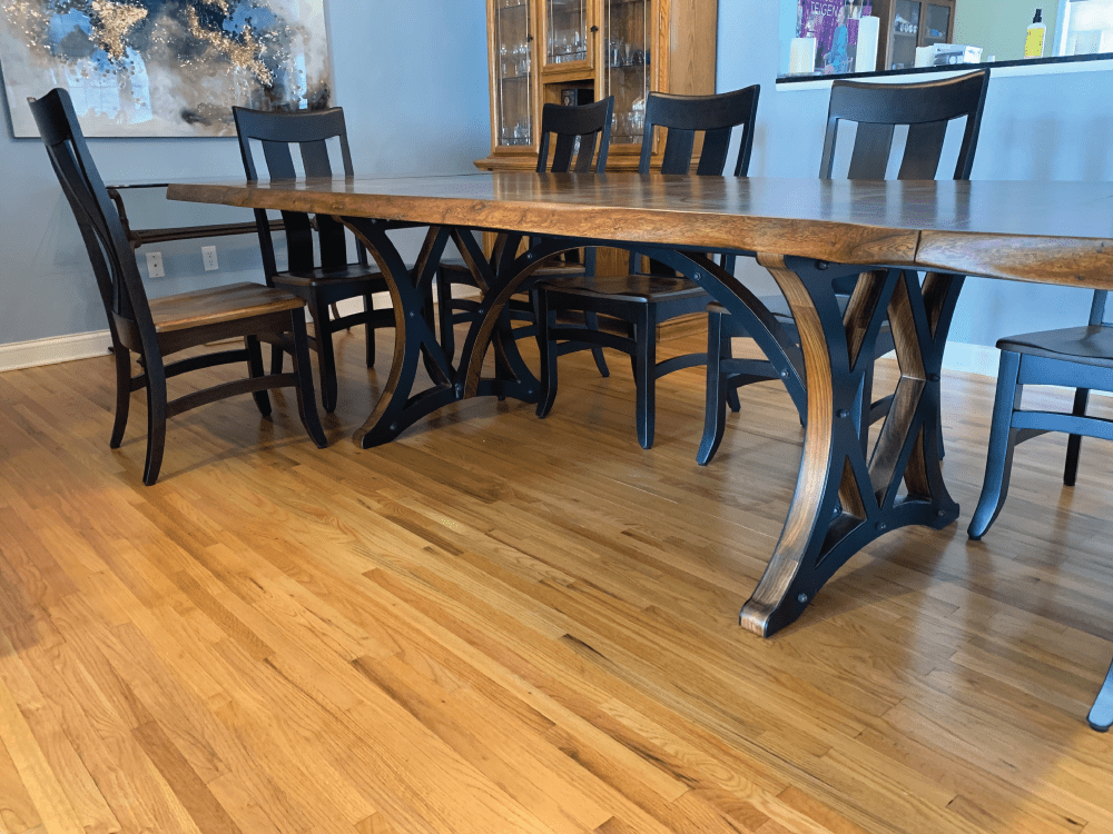 Book Matched American Elm Dining Table Home Wood From The Hood Custom
