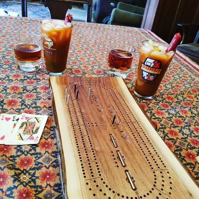 Three Player Live Edge Cribbage Board Wood From the Hood