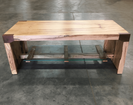 Custome Wood From the Hood Waterfall Spalted Maple Table