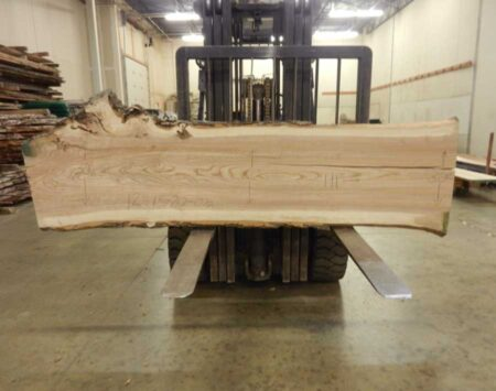 "Ash Natural Edge Slab #12-15-20-01 (112"" x 25"" x 2.25"")"