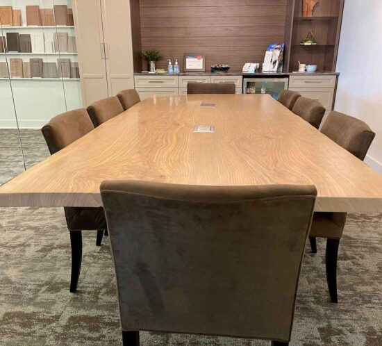 Reclaimed Ash Conference Table at Twin Cities Closet Company