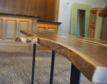 Live-Edge Console Table - Wood From The Hood
